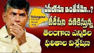 టీడీపీకి వణుకుపుట్టిస్తున్న తెలంగాణ ఎన్నికల విశ్లేషణ| Telangana Election Results stir in AP TDP