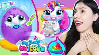 I ADOPTED A BABY UNICORN! - My Baby Unicorn - Virtual Pony Pet Care & Dress Up (App Game)
