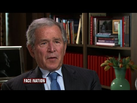 George W. Bush discusses his father, Jeb in 2016, and the Iraq War