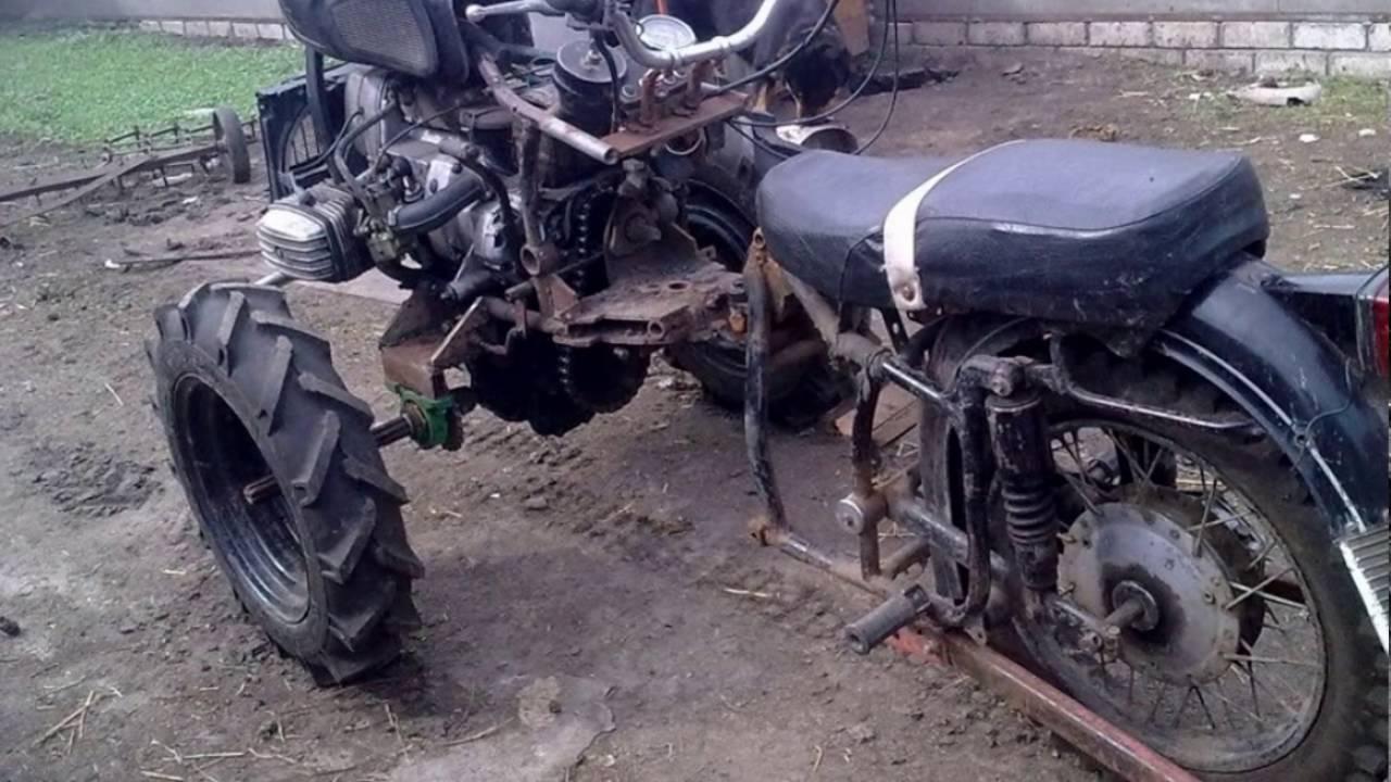 Мотоблок из мотоцикла своими руками 432