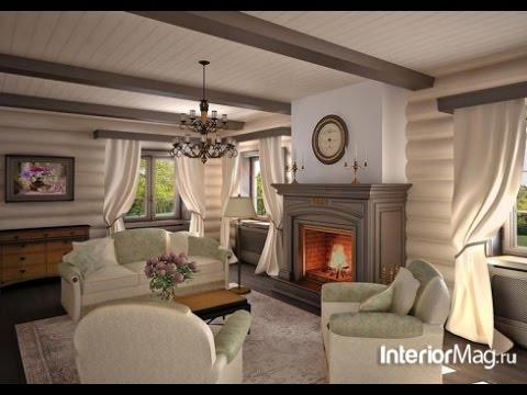 Гостиные в стиле Шале (дизайн интерьера)