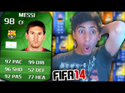 FIFA 14 - iMOTM 100K PACKS! - iMOTM MESSI PACK OPENING!! (FIFA 14 Ultimate Team)