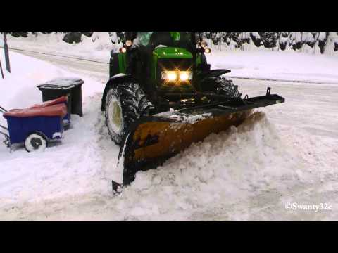 John Deere 6430 Plowing Snow