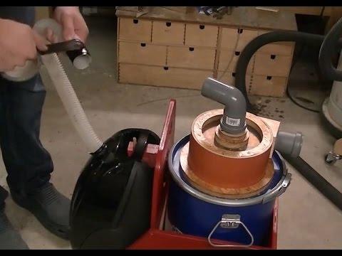 Building a Cyclone Vacuum Cleaner - Bau eines Zyklon Staubabscheiders