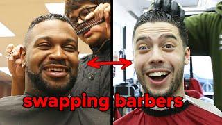 Friends Swap Barbers