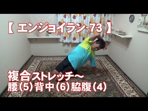 #73 『複合』腰(5)背中(6)脇腹(4)/筋肉痛改善ストレッチ・身体ケア【エンジョイラン】