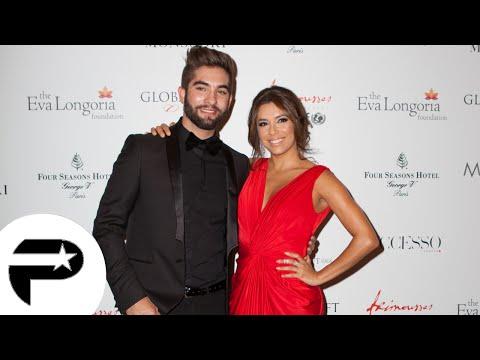 Eva longoria enlace chaleuresement Kendji et Nikos à la soirée Global Gift Gala