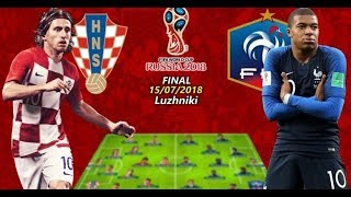 🔴 France vs Croatia Final  -2018 FIFA World Cup Russia™/Live Score & Update/ Ending Ceremony/ Final
