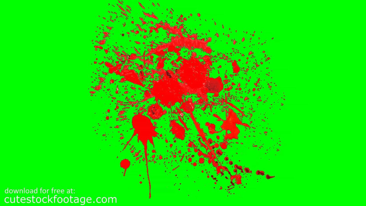 Blood splatter 9 hd chroma key footage youtube