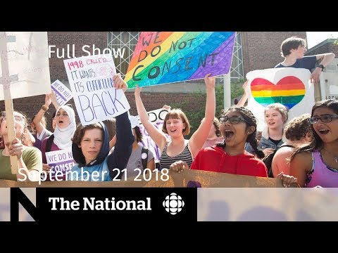 The National for September 21, 2018 — Ont. Tornado, Sex-Ed Walkout, Pipeline Review thumbnail