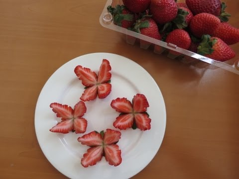How to make Strawberry Butterflies !!! (Promise Phan )