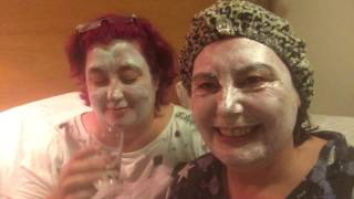 Two mad lady's #face pack &wine#lol#funny#chat #mad