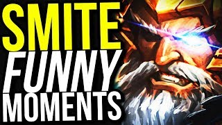 THIS DAMAGE ODIN BUILD ONE HITS!! - SMITE FUNNY MOMENTS