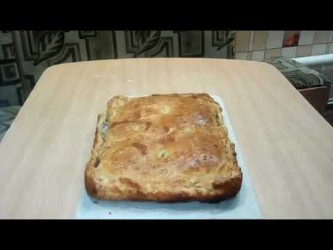 Слоёный пирог с картошкой и фаршем