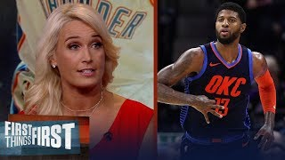 Is Paul George the MVP front-runner? Sarah Kustok weighs in | NBA | FIRST THINGS FIRST