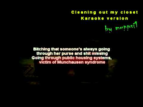 Eminem - Cleaning Out My Closet [karaoke instrumental] W lyrics video
