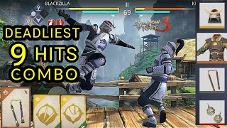 Shadow Fight 3 deadliest 9 hit combo