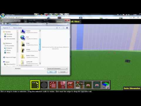 Como hacer PixelArt en minecraft (SpriteCraft+MCedit) DESCARGA