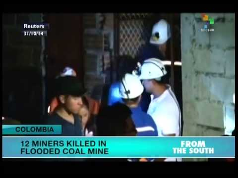 Colombia: 12 miners killed in flooded coal mine