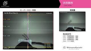 ハイスピードカメラ+データロガー 「バネ落下挙動」