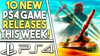 10 NEW PS4 Game Releases THIS WEEK! BIG PS4 JRPG + More!