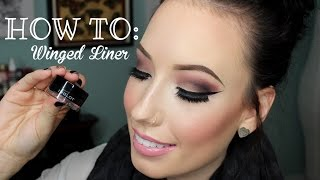 HOW TO: Winged Eyeliner Tutorial (3 Easy Steps) | lesleydoesmakeup