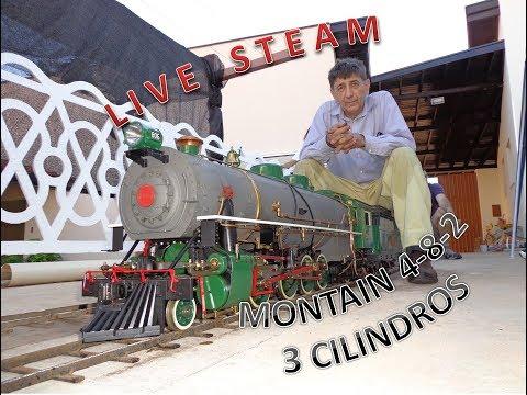 Locomotiva série 800 de 3 cilindros LIve Steam three cylinder live steam locomotive