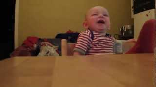 Funny Baby laughing at authority!