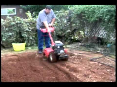 Rototilling Garden With Yard Machine Tiller Autumn 2010