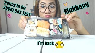 Penny to go sushi box Test Mukbang | Deutsch | Social eating
