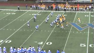 Widener University's Jamal Dorsey's Interception Return vs. Delaware Valley (Nov. 10, 2012)