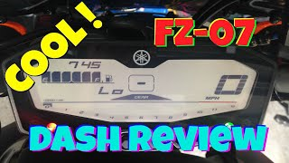 """Yamaha FZ-07 Dash Review"" FZ 07 Digital Display and FZ-07 Instrument Dash Review !!"