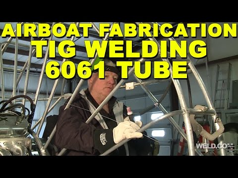 TIG Welding 6061 Aluminum Tube and Pipe on an Airboat Frame