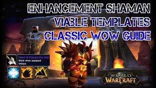 Enhancement Shaman 1.12 Guide : Uncommon templates Classic WoW