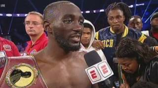 """Terence Crawford vs Jose Benavidez post fight. """"Why no mention of Spence?"""""""