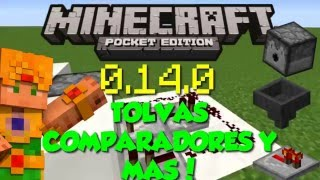 Minecraft PE 0.14.0 - TOLVAS DISPENSADORES Y MAS - Usos y Caracteristicas - Noticias Pocket Edition