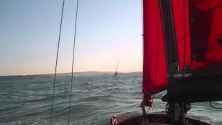 Mirror Dinghy - Chichester to Bembridge in a F6, camping, then returning next day