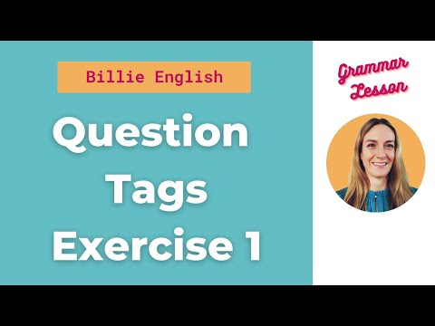 Question Tags Exercise 1 songfree