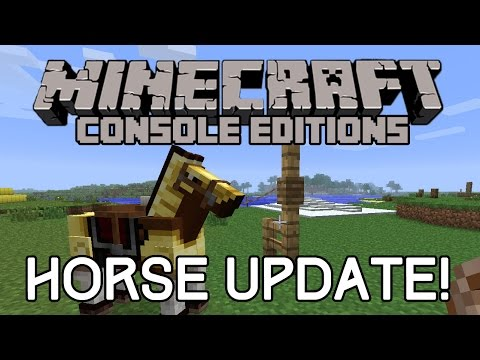 4J RELEASE SCREENSHOT OF HORSE UPDATE! Minecraft TU18/TU19 On Xbox and Playstation Editions
