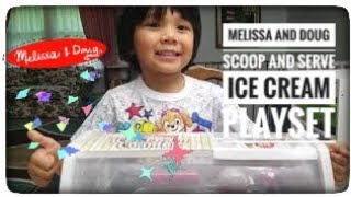 Melissa and Doug Scoop and Serve Ice Cream Counter Playset