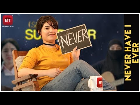 Secret Superstar Actress Zaira Wasim Confess Crying On Sets & Much More | Never Have I Ever thumbnail