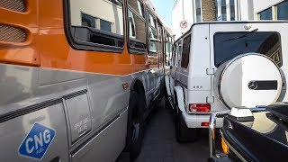 Bus Smashes Into G Wagon...Who's at Fault?