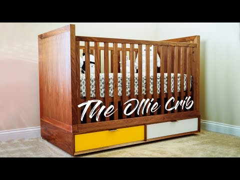 DIY Mid Century Modern Baby Crib || How To Build - Woodworking