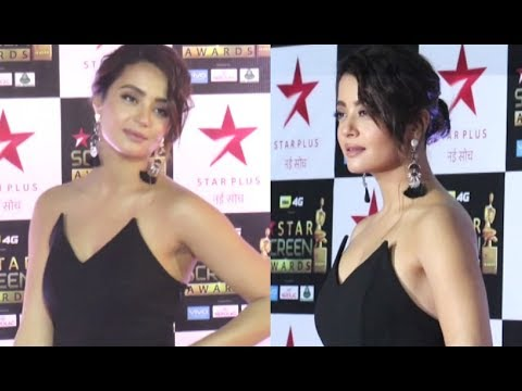 Surveen Chawla Hot At Star Screen Awards 2018 Red Carpet