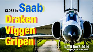 Close to Saab Draken, Viggen, Gripen / 4K / FZ100 / Nato DAYS 2014 Ostrava