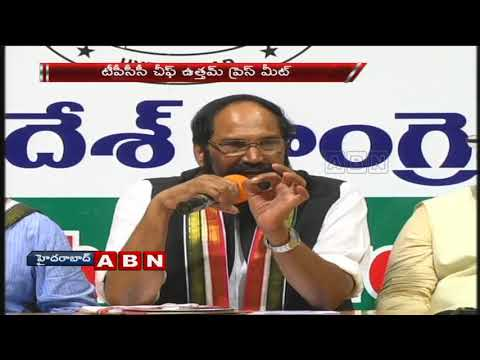 TPCC Chief Uttam kumar Reddy slams CM KCR ;  speaks to Media In Gandhi Bhavan