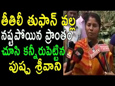 YSRCP Puspha Srivani Emotional Speech At Titli Toofan landfall in Coastal Andhra | Cinema Politics