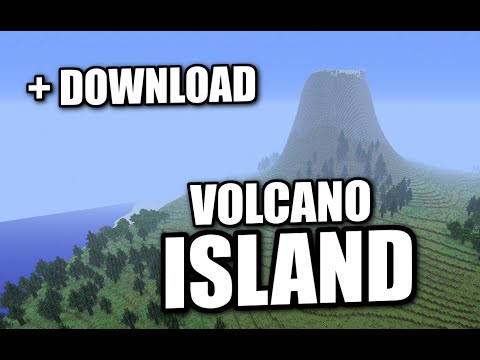 Minecraft PS3 - SURVIVAL VOLCANO ISLAND - EPIC MAP DOWNLOAD + REVIEW ( PS4 / XBOX )