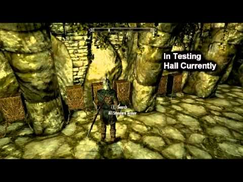 Skyrim console commands [PC] - Testing Hall