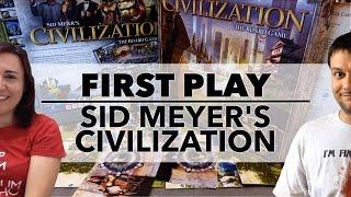 First Play: Sid Meier's Civilization (2010) #boardgames